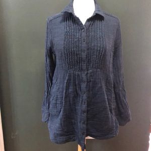 Free People Loose Fit Over Shirt Size S
